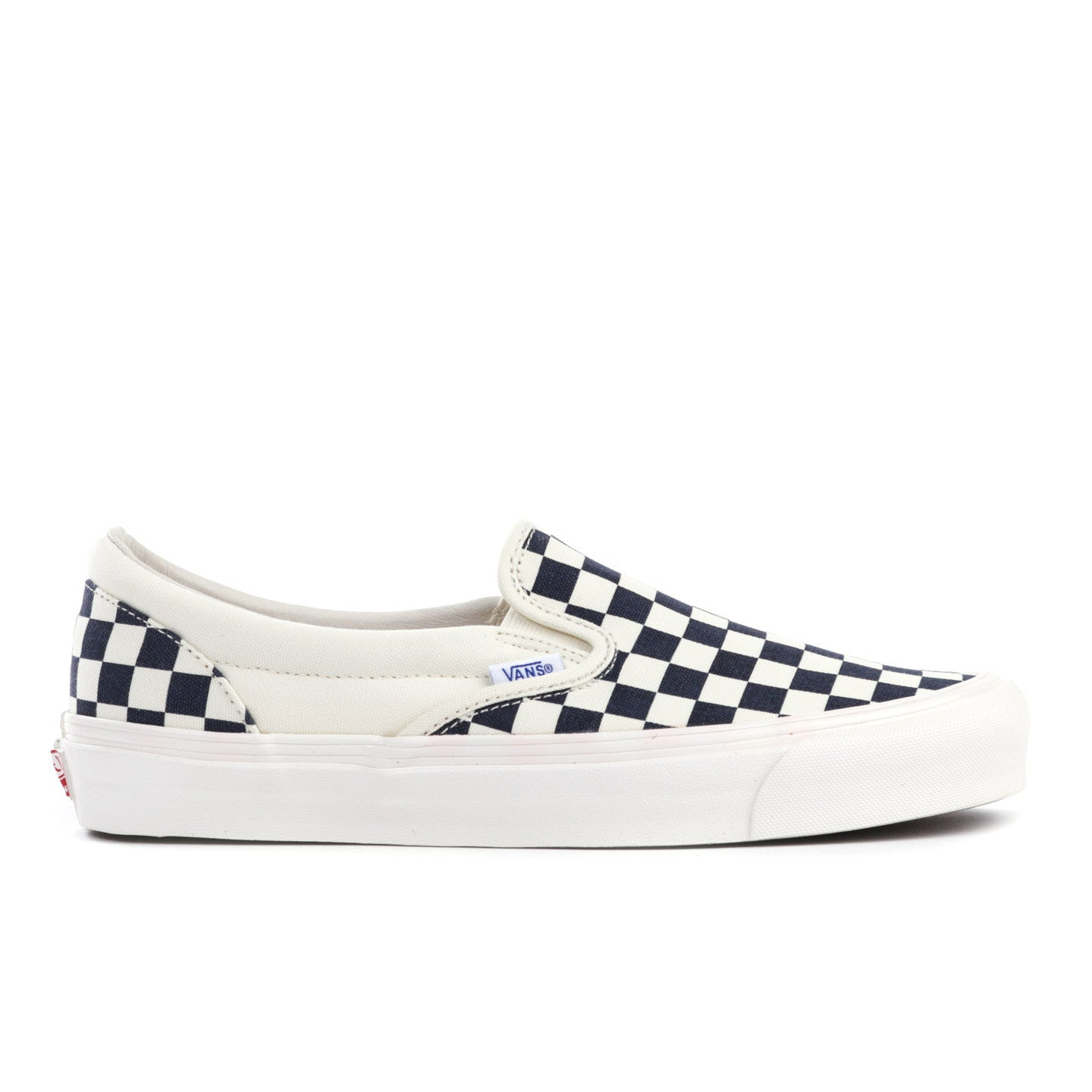 c80ff01fa1 VAULT BY VANS OG CLASSIC SLIP-ON LX NAVY CHECKERBOARD CANVAS