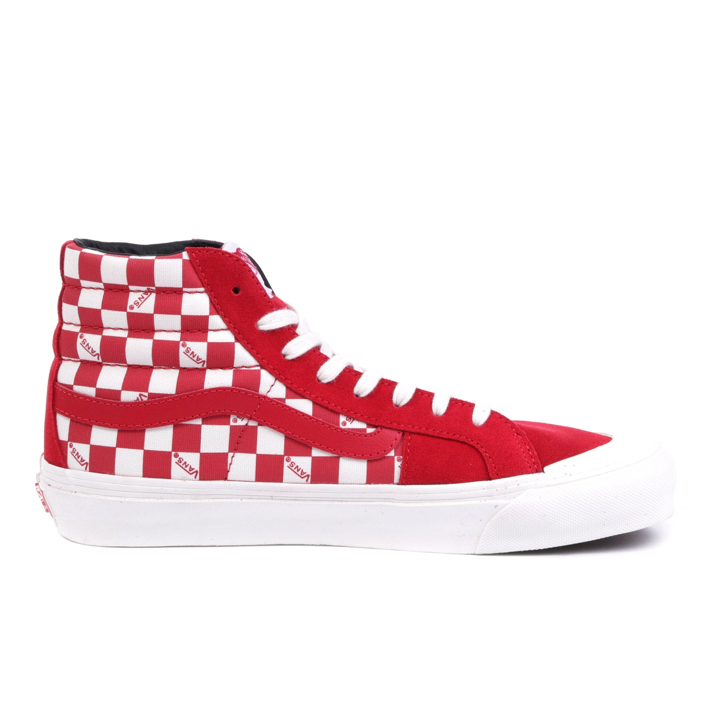 VAULT BY VANS OG STYLE 138 LX RACING RED / CHECKERBOARD