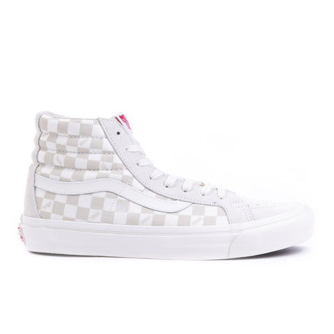 VAULT BY VANS OG SK8-HI LX CHECKERBOARD MARSHMALLOW