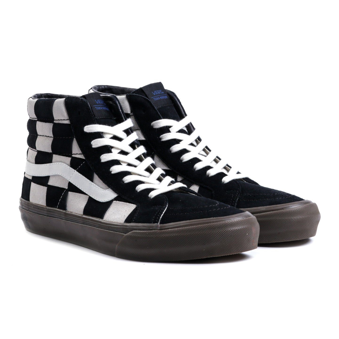 VAULT BY VANS TH SK8-HI LX WOVEN SUEDE CHECKERBOARD / BLACK