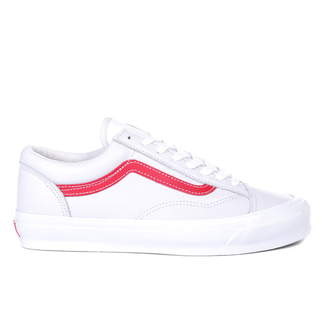 VAULT BY VANS OG STYLE 36 LX RED / TRUE WHITE
