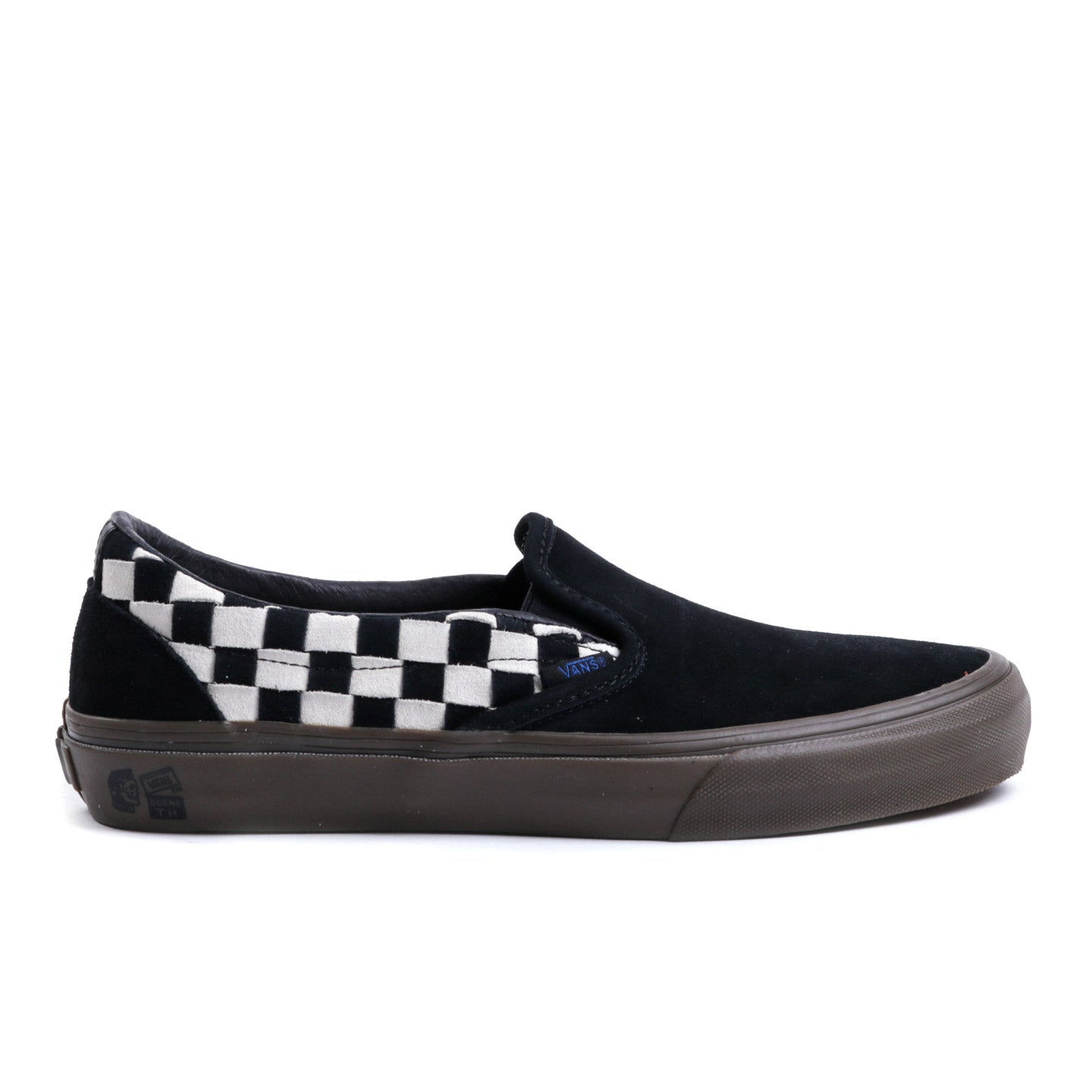 VAULT BY VANS TH SLIP-ON LX WOVEN SUEDE CHECKERBOARD / BLACK