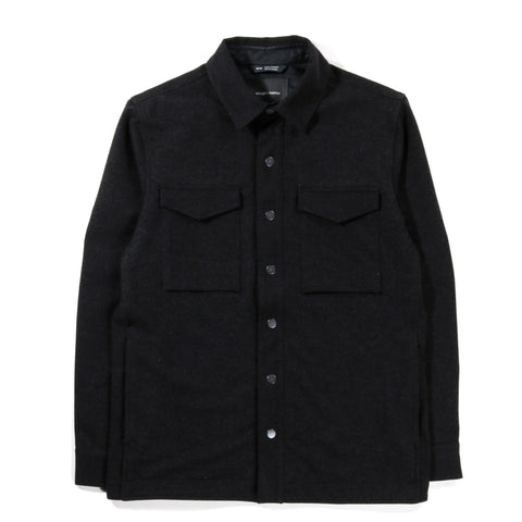 WINGS + HORNS STRETCH TWILL CPO JACKET MELANGE BLACK