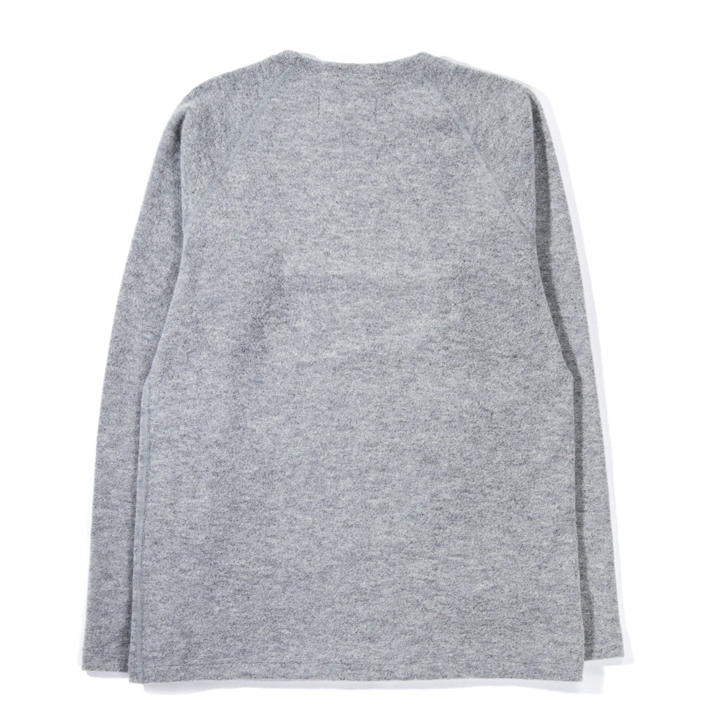 WINGS + HORNS FELTED WOOL CREWNECK HEATHER GREY