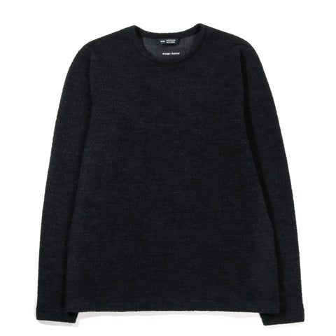 WINGS + HORNS ALPINE MERINO LONG SLEEVE CHARCOAL