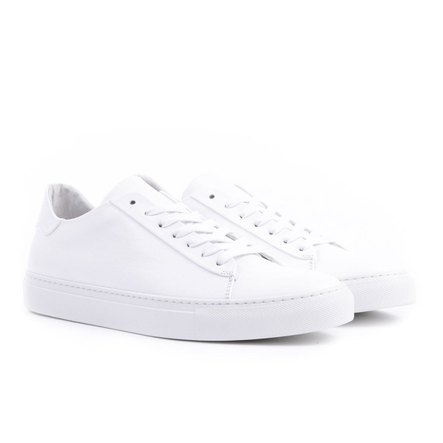 WINGS + HORNS COURT LOW SOFTY LEATHER WHITE / WHITE