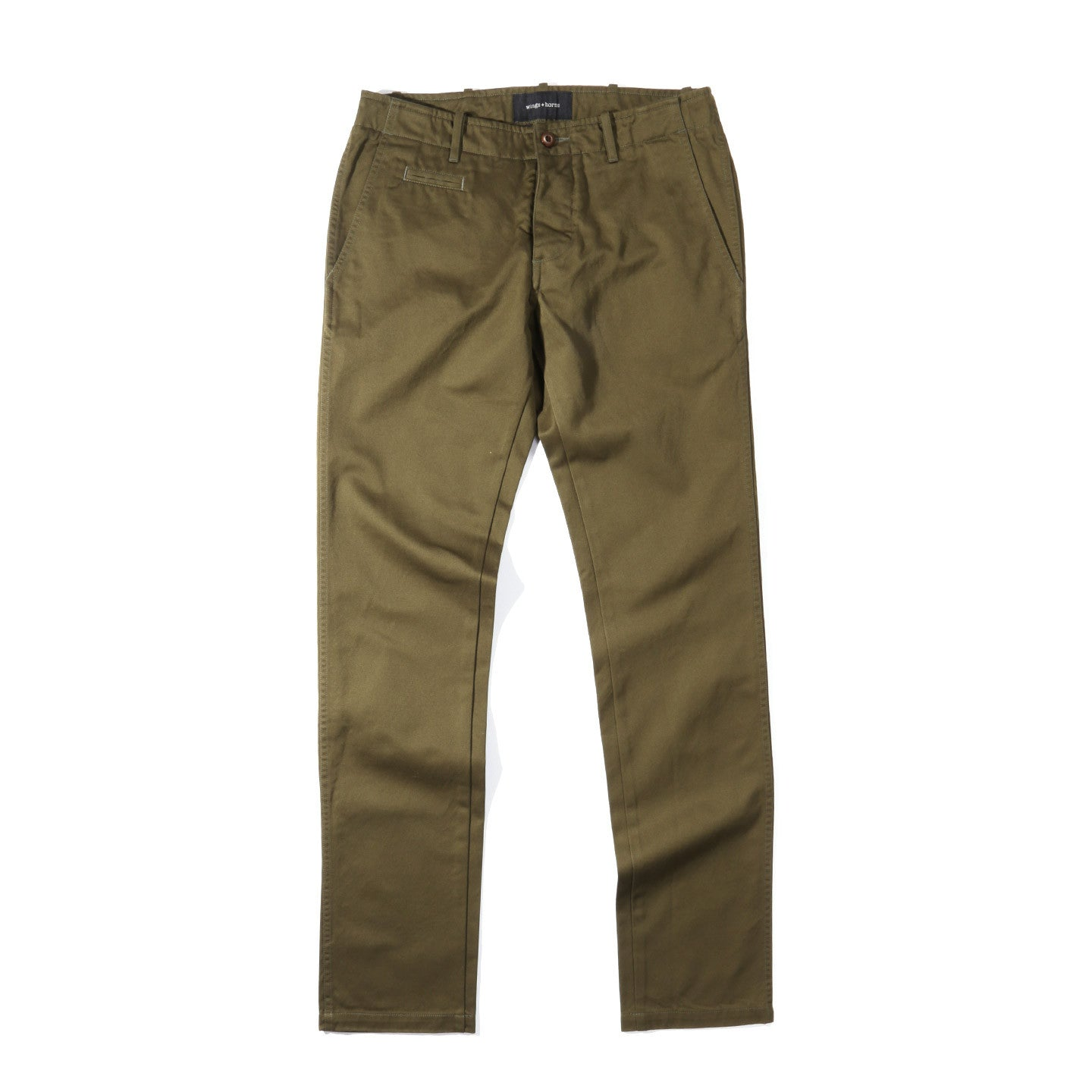 WINGS + HORNS WESTPOINT CHINO OLIVE