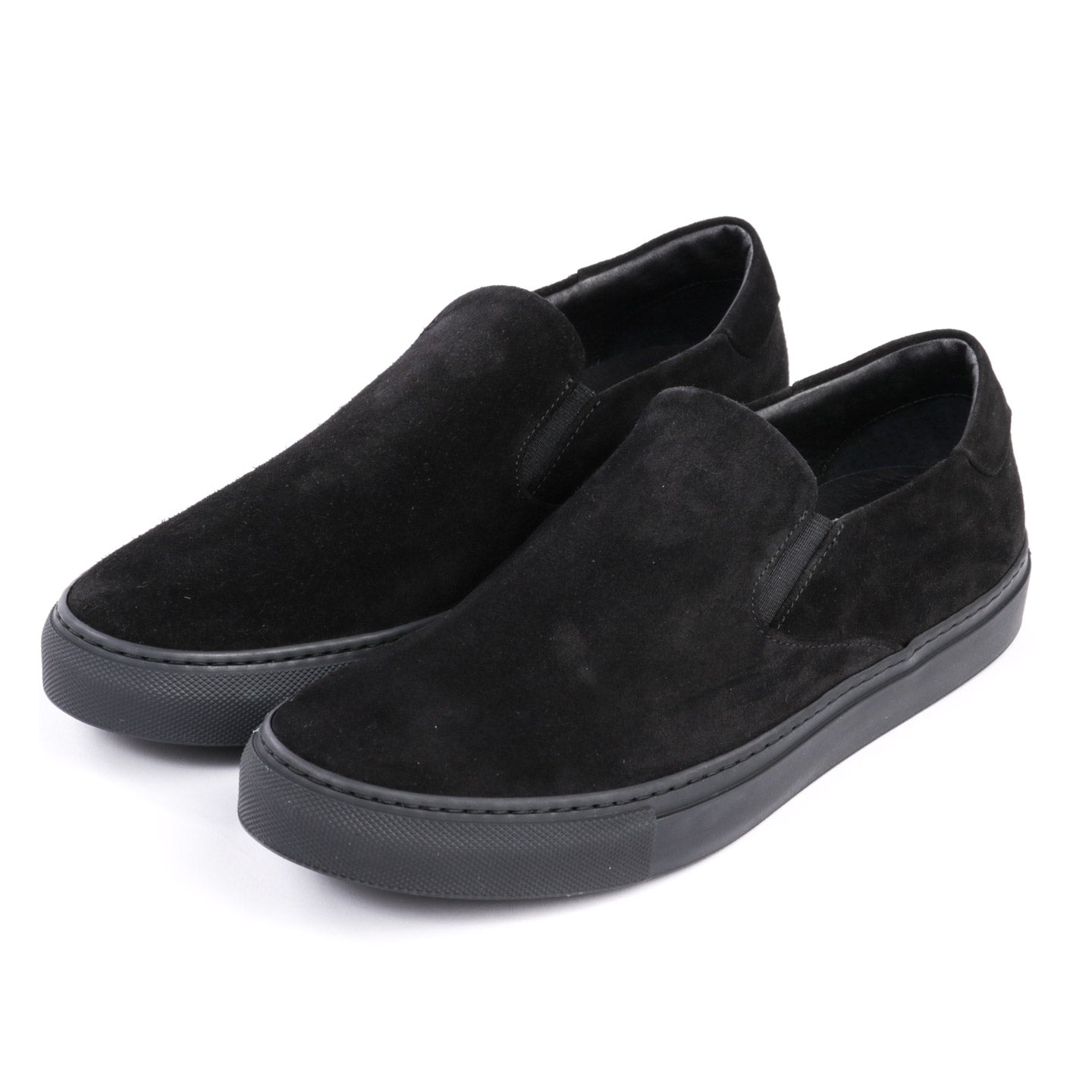 WINGS + HORNS SUEDE SLIP-ON BLACK / BLACK