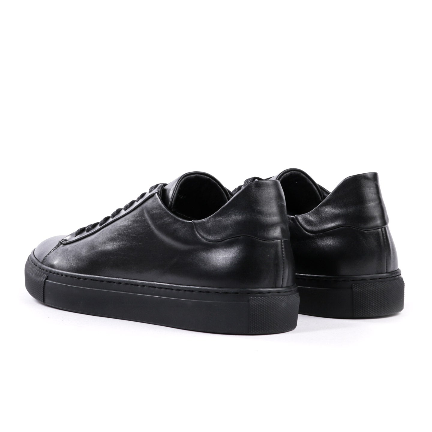 WINGS + HORNS COURT LOW SOFTY LEATHER BLACK / BLACK