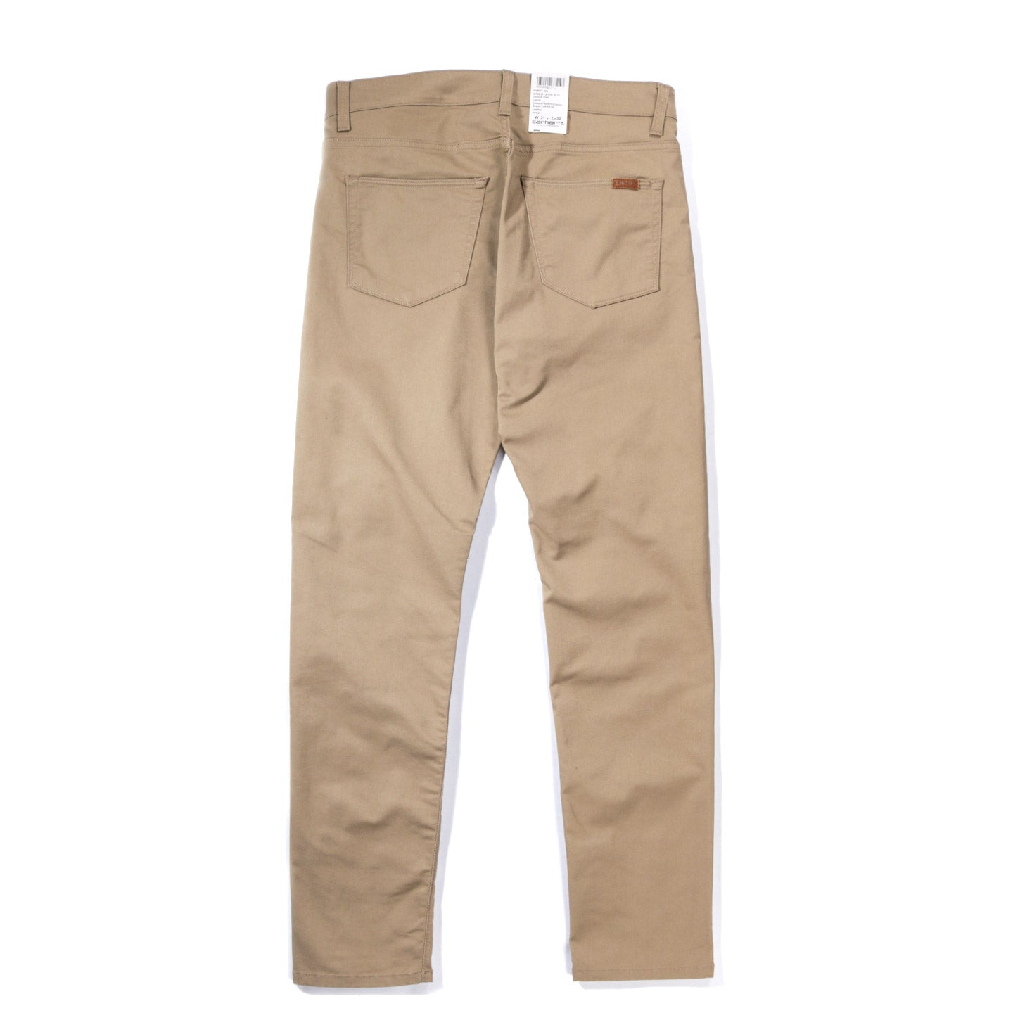 CARHARTT WIP VICIOUS PANT 'LAMAR' STRETCH TWILL LEATHER