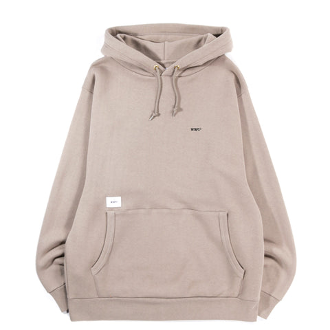 WTAPS FLAT HOODED SWEATSHIRT BEIGE