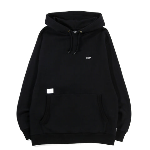 WTAPS FLAT HOODED SWEATSHIRT BLACK