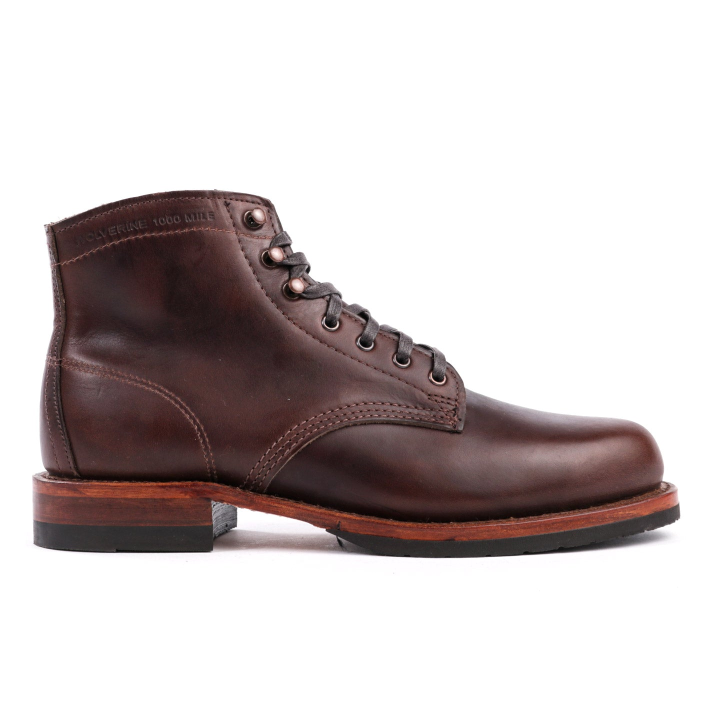 WOLVERINE 1000 MILE TODAY EVANS BOOT DARK BROWN