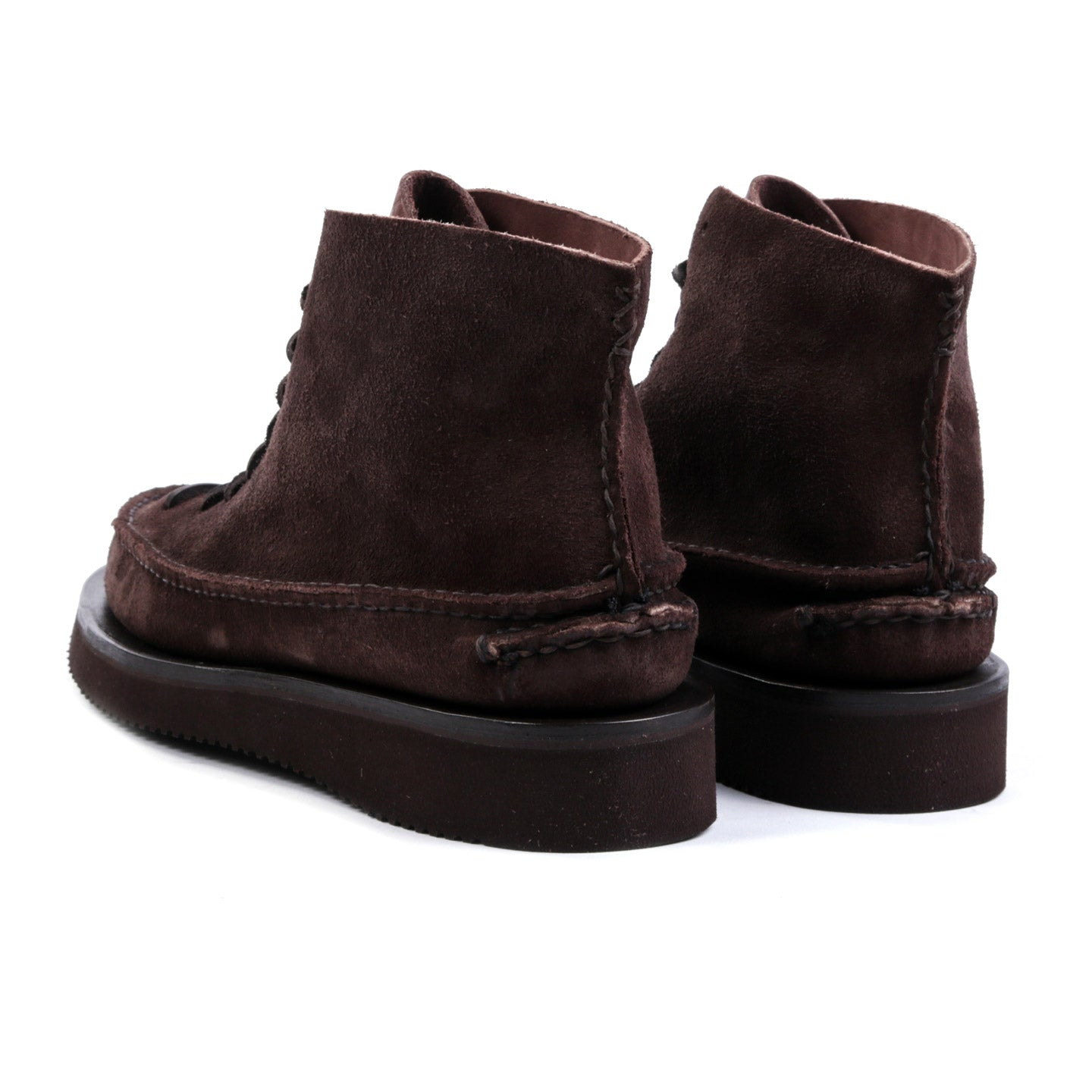 YUKETEN ALL HANDSEWN SNEAKER MOC HI FO DARK BROWN