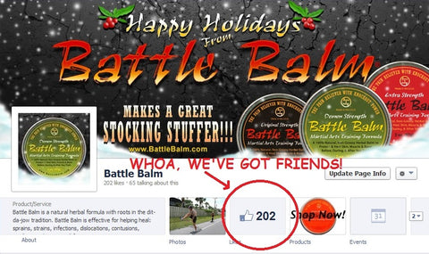 Battle Balm Hits 200 Likes on Facebook