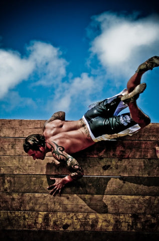 Andy Andras Scaling the Wall at Spartan Race