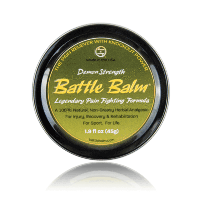 Demon Strength Battle Balm All Natural Topical Pain Relief Cream - For Strong to Severe Pain Conditions, severe arthritis, & more!