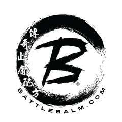 Battle Balm logo Enzo Black Text