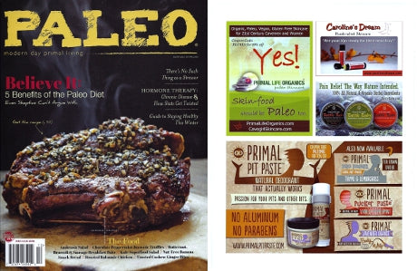 Paleo Magazine Battle Balm Ad December January