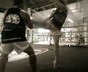 Helen Harper Taking it to the Thai Pads with Battle Balm