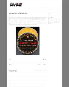 Jiu Jitsu Hype Editor's Pick: Battle Balm