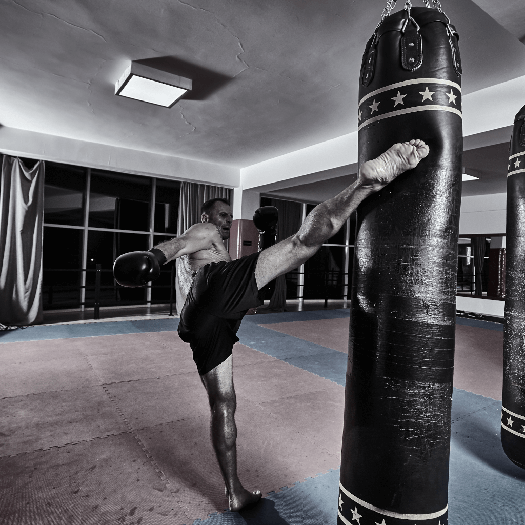 Muay Thai kickboxing shin conditioning for hard style martial arts