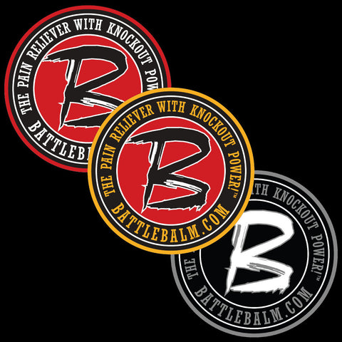 "5"" Round Battle Balm® Sticker"
