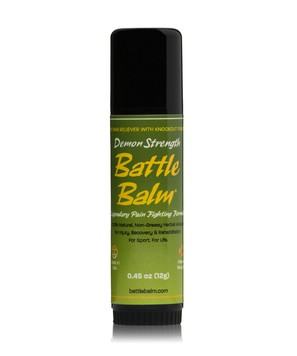 Battle Balm Demon Strength Stick All-Natural Topical Pain Relief Cream Balm for Arthritis & More