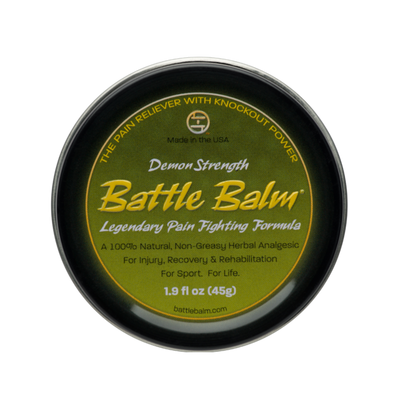 Battle Balm Demon Strength Full Size All Natural Topical OTC Pain Relief Cream 1.9oz - For arthritis, sprains, strains, bruises, & more!