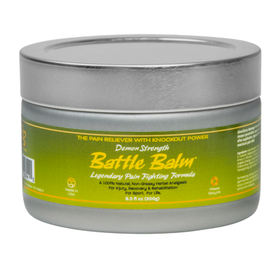 Battle Balm Demon Strength Pro Size All Natural Topical OTC Pain Relief Cream 8.5oz - For arthritis, sprains, strains, bruises, & more!