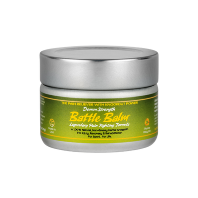 Battle Balm Demon Strength All Natural Topical OTC Pain Relief Cream 4.25oz - For arthritis, sprains, strains, bruises, & more!