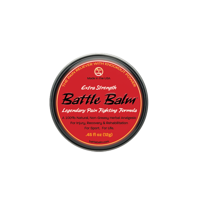 Battle Balm Extra Strength Personal Size All Natural Topical OTC Pain Relief Cream 0.45oz - For arthritis, sprains, strains, bruises, & more!
