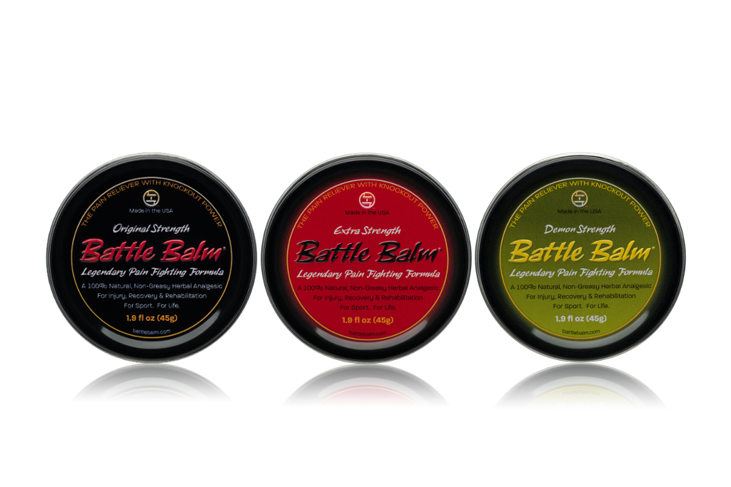 Battle Balm Full Size Tin Pack All-Natural Topical Pain Relief Cream Balm for Arthritis & More