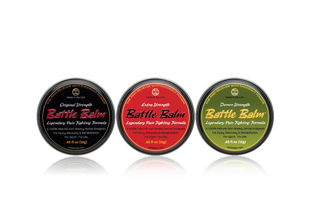 Battle Balm Personal Size Tin Pack All-Natural Topical Pain Relief Cream Balm for Pain Relief