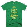BATTLE BALM® Keep Calm and Battle On TEE-SHIRT (MEN'S) - Kelly Green