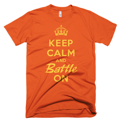 BATTLE BALM® Keep Calm and Battle On TEE-SHIRT (MEN'S) - Orange