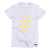 BATTLE BALM® Keep Calm and Battle On TEE-SHIRT (WOMEN'S) - Heather Gray