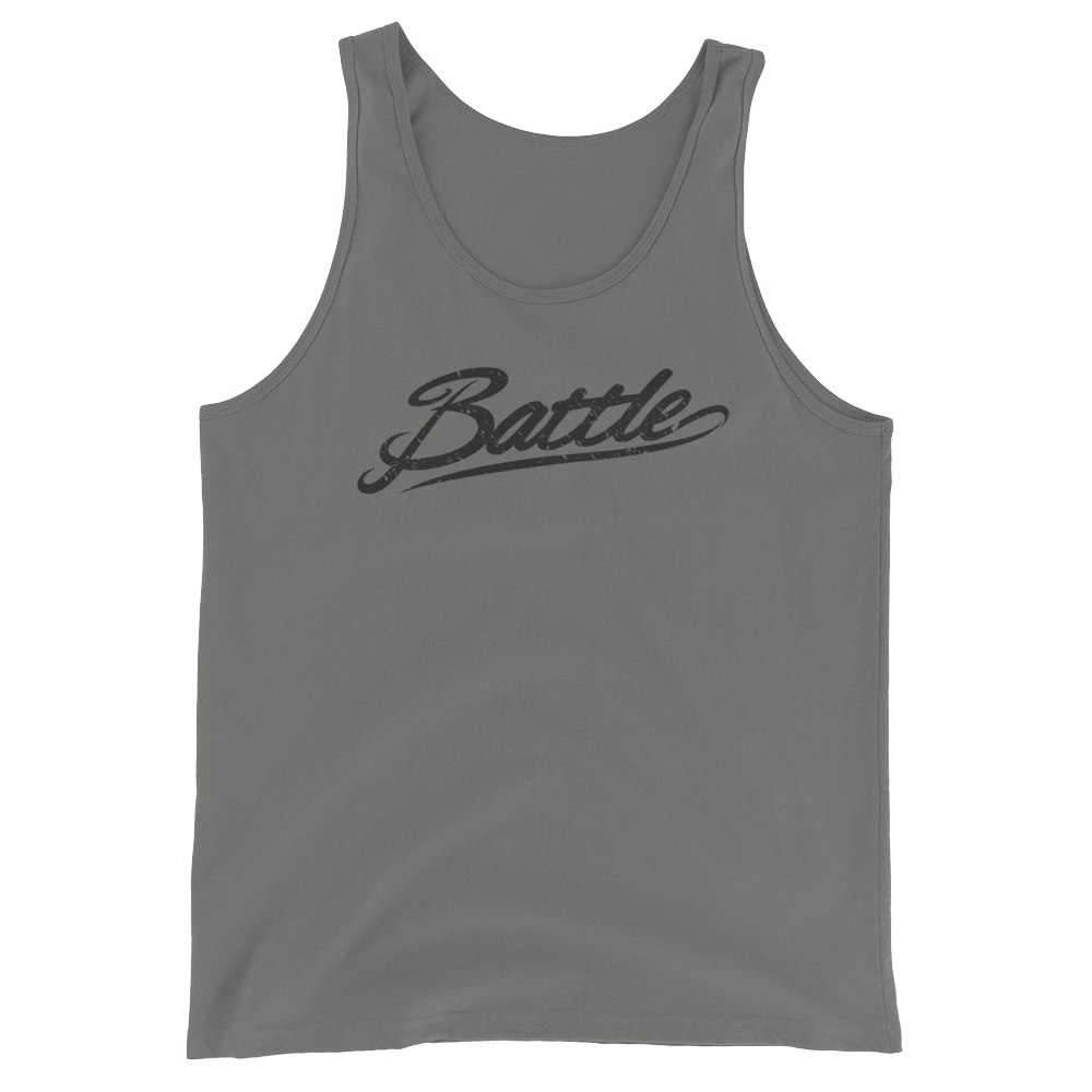 Battle Balm® Battle Black Script Tank Top (Unisex)