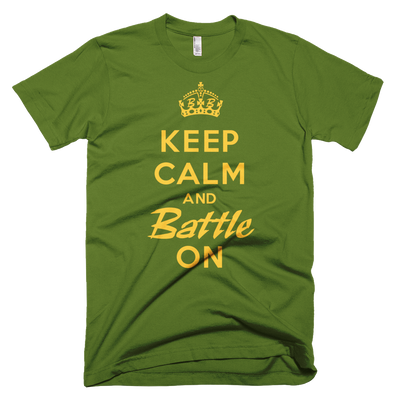 BATTLE BALM® Keep Calm and Battle On TEE-SHIRT (MEN'S) - Olive