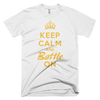 BATTLE BALM® Keep Calm and Battle On TEE-SHIRT (MEN'S) - White