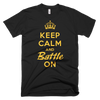BATTLE BALM® Keep Calm and Battle On TEE-SHIRT (MEN'S) - Black