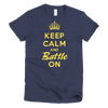 BATTLE BALM® Keep Calm and Battle On TEE-SHIRT (WOMEN'S) - Navy