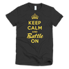 BATTLE BALM® Keep Calm and Battle On TEE-SHIRT (WOMEN'S) - Black