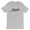 Battle Balm® (Men's) Battle Black Cursive Tee-Shirt [Athletic Heather]