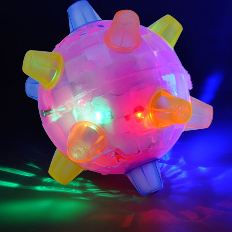 Flashing and Jumping Toy for Pets and Kids