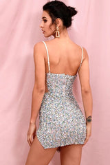 'Glitz Party' Sequin Embellished Mini Dress