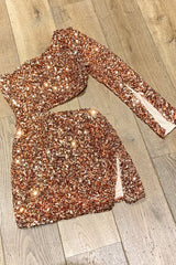 'Dripping in Gold' Sequin Embellished Dress
