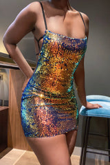'After Midnight' Sequin Backless Dress