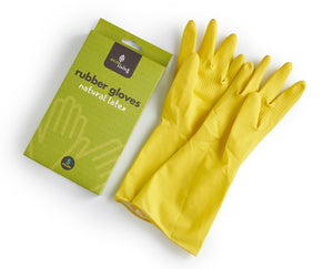 Natural Latex Rubber Gloves - Large