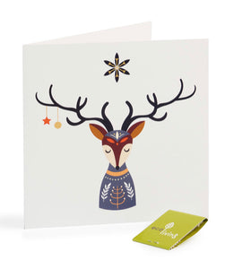 Recycled Christmas Card - Reindeer